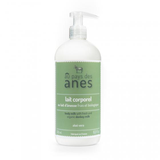 Lait corporel au lait d'ânesse frais et biologique Aloe Vera 500 ml