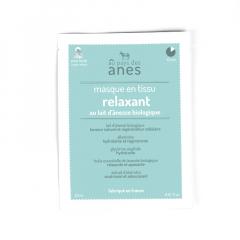 Masque en tissu au lait d'ânesse biologique Relaxant 20 ml