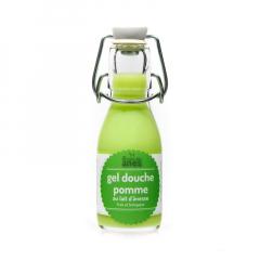 Gel douche limonade au lait d'ânesse frais et biologique Pomme 100 ml