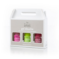 Coffret gels douche limonade Barbe à papa - Pomme - Fruits rouges