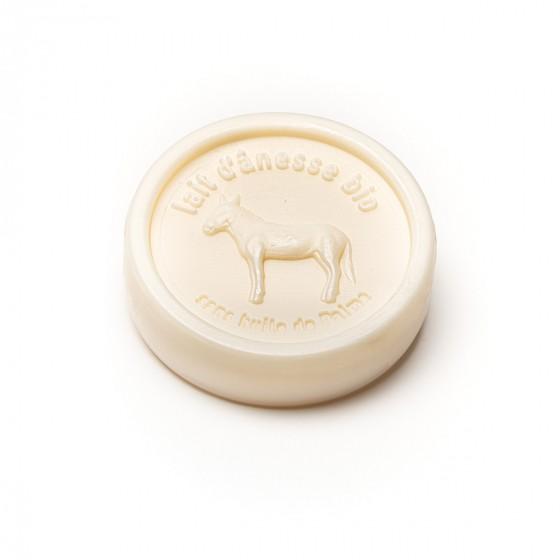 Savon rond au lait d'ânesse biologique Jasmin 100g Au Pays des Ânes