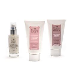 Pack routine visage : crème de jour et crème de nuit tube, sérum anti-âge