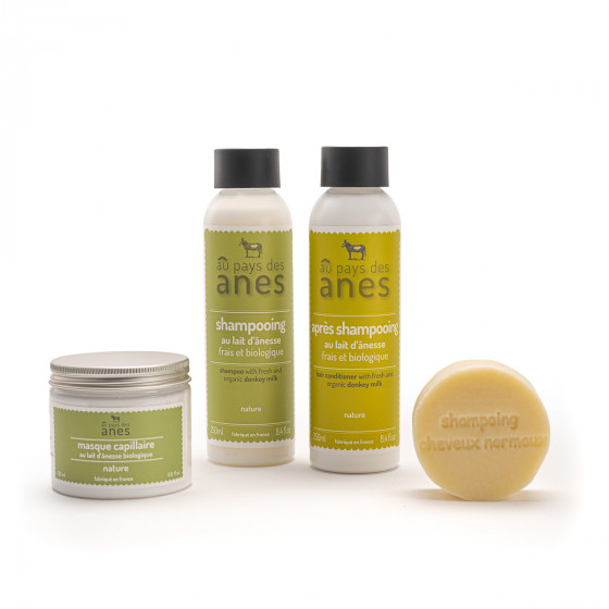 Pack cheveux : shampooing, shampooing solide, après-shampooing, masque capillaire